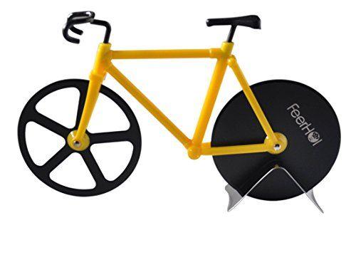 Feerhols Stainless Steel Pizza Cutter Bike The Fun Small Kitchen