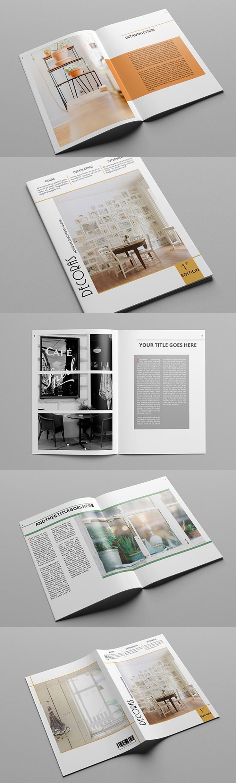 #magazine #design from atsar | DOWNLOAD: https://creativemarket.com/atsar/323460-Decoras-Magazine-Template?u=zsoltczigler