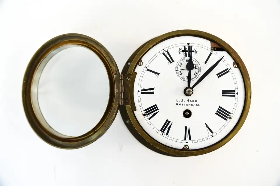L J Harri Amsterdam Ship S Clock In 2020 Ships Clock Nautical Clocks Clock