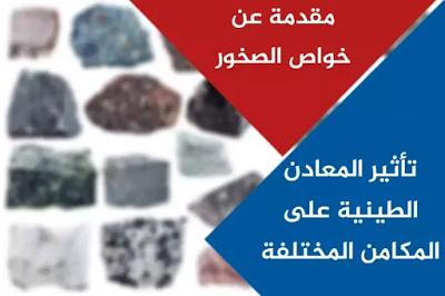 تأثير المعادن الطينية على المكامن المختلفة مقدمة عن خواص الصخور Clay Minerals Rocks And Minerals Minerals