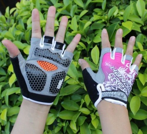 Cycling gloves Bike Bicycle gloves Hexagon 3D GEL Shockproof Sports Half Finger