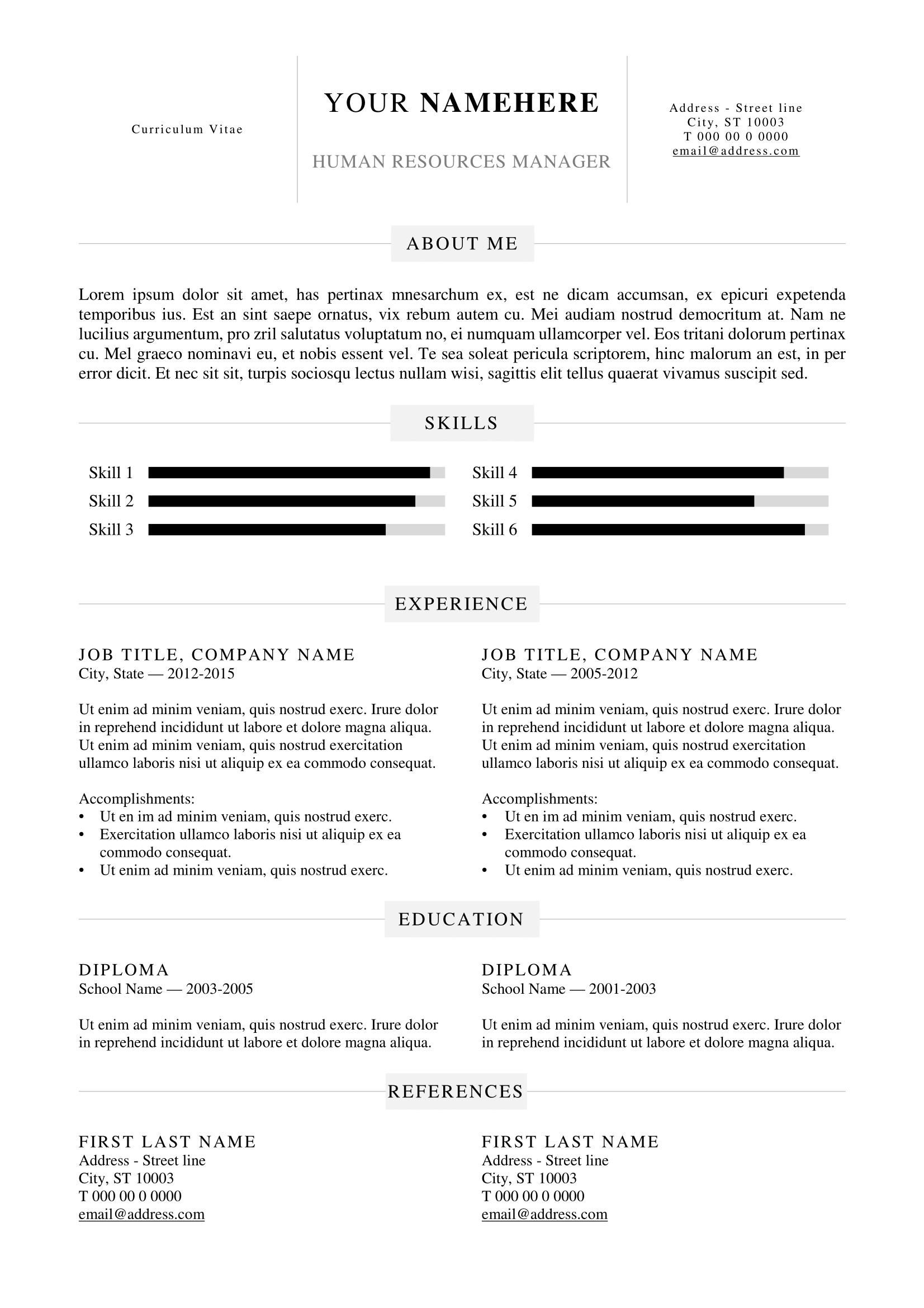 kallio free simple resume template for word docx basic resume