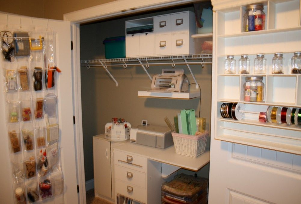 Elegant Craft Room Closet Storage Ideas - //closetdesignideas.website/ bedroom & Elegant Craft Room Closet Storage Ideas | Pinterest | Craft room ...