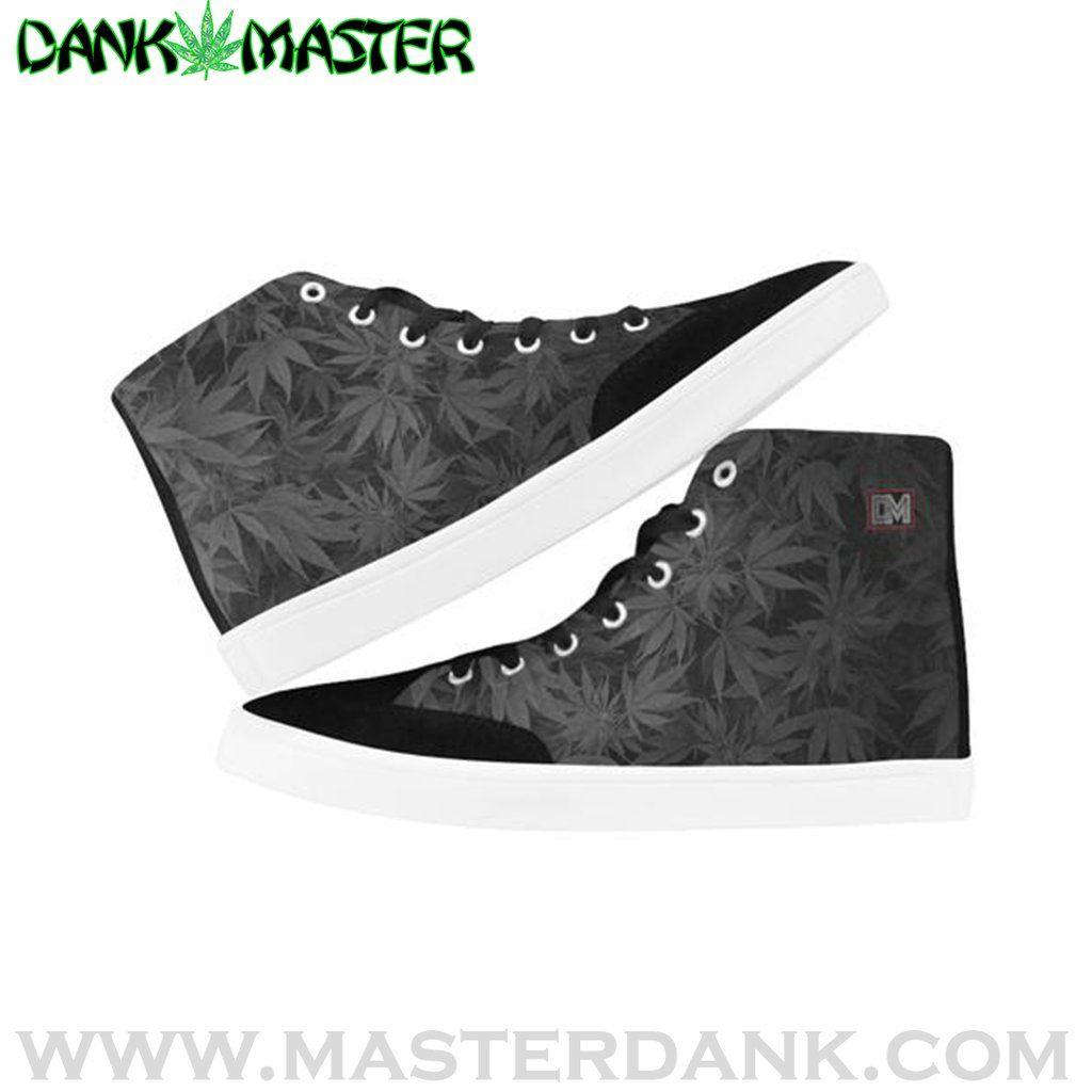 Dank Master OG Black Weed Leaf High Top Women/'s Canvas Shoes Sneakers