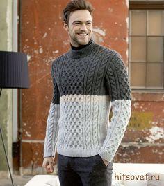 мужской свитер спицами схемы вязание мужской свитер свитер и