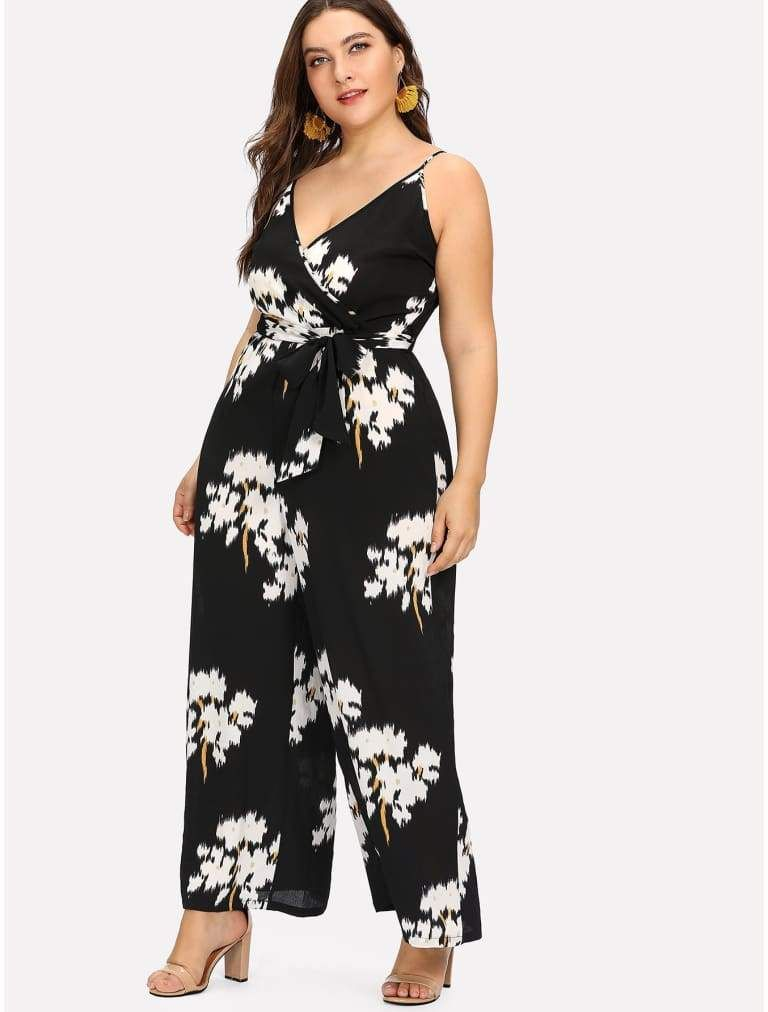 c20d675ff7 NANCY BELTED FLORAL WRAP CAMI JUMPSUIT (affiliate link) £30.00 ...