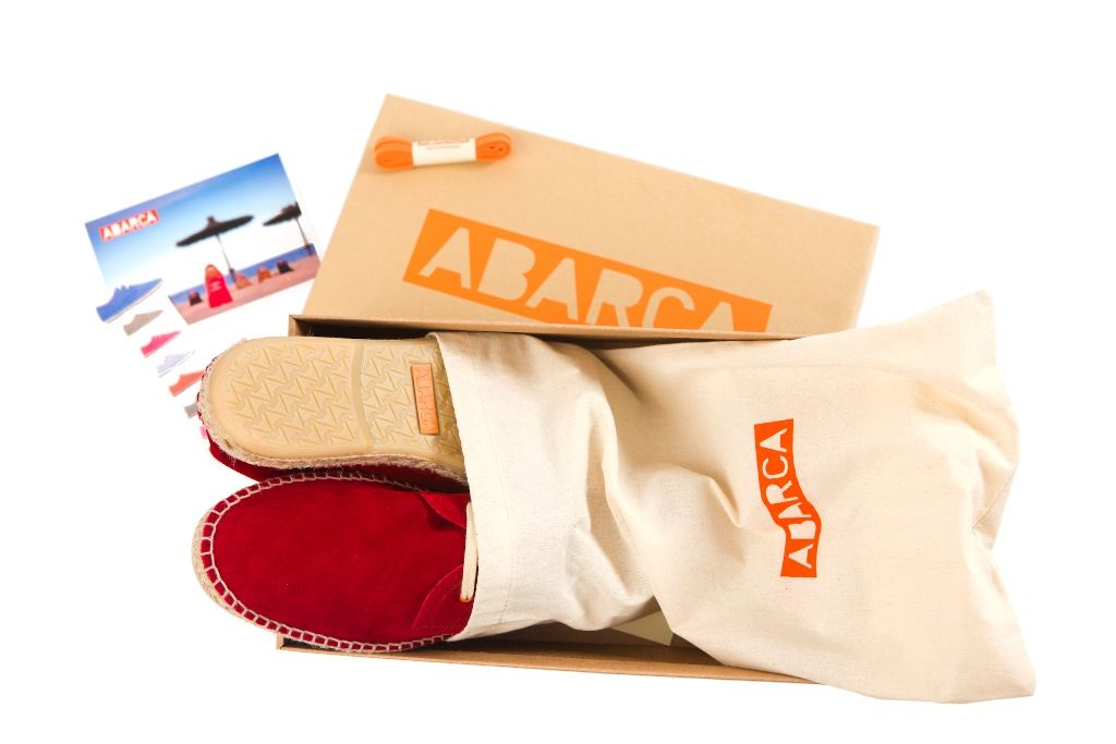 Packaging de Abarca Shoes.