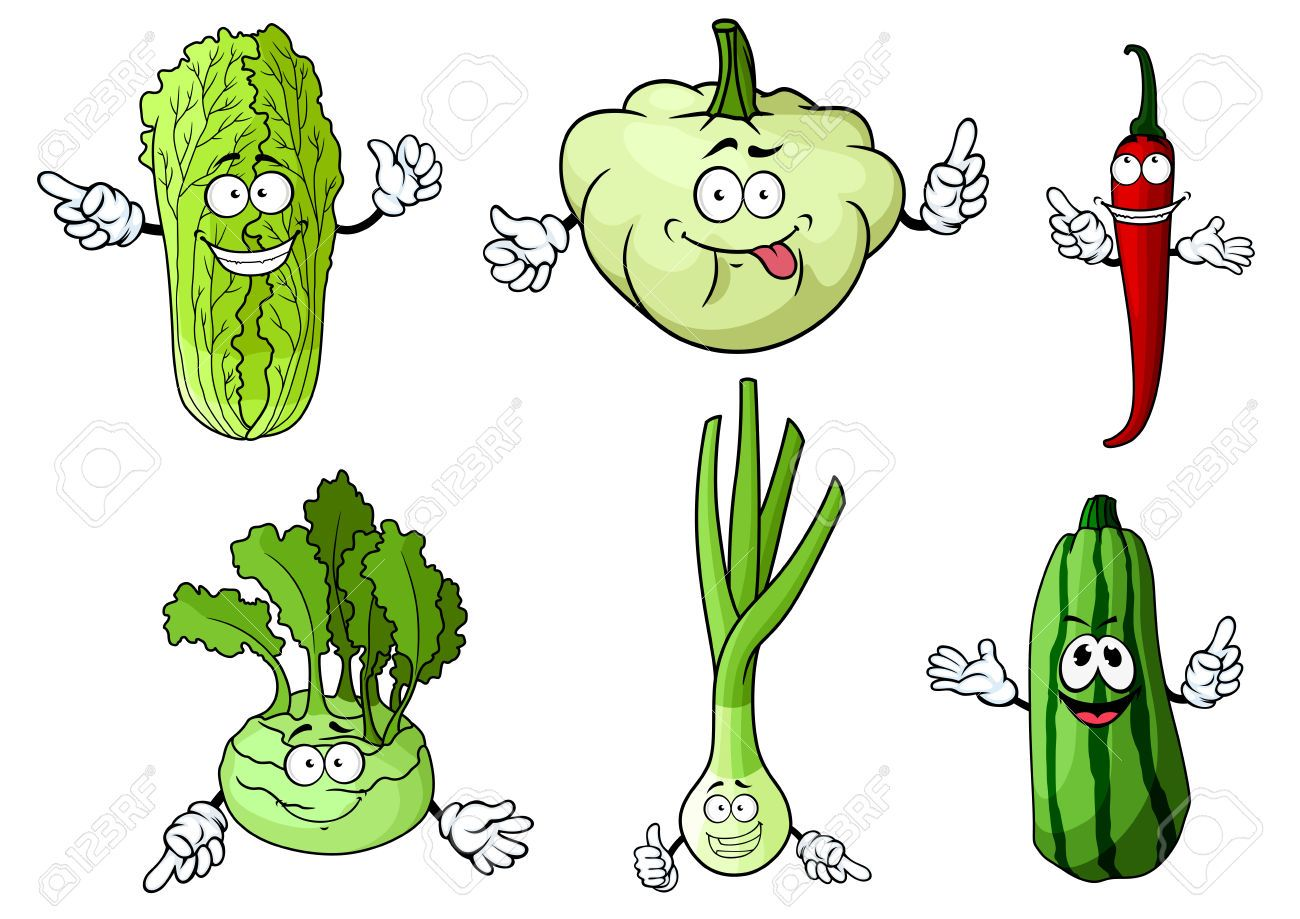 43009400-Fresh-cartoon-green-onion-chili-pepper-chinese-and-kohlrab ...