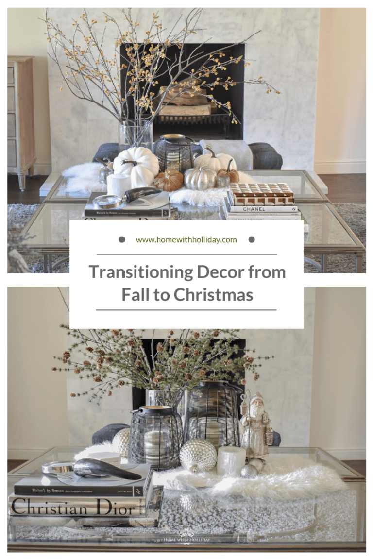 How I Am Transitioning Decor From Fall To Christmas On My Coffee Table Home With Holliday Decor Fall Coffee Table Coffee Table