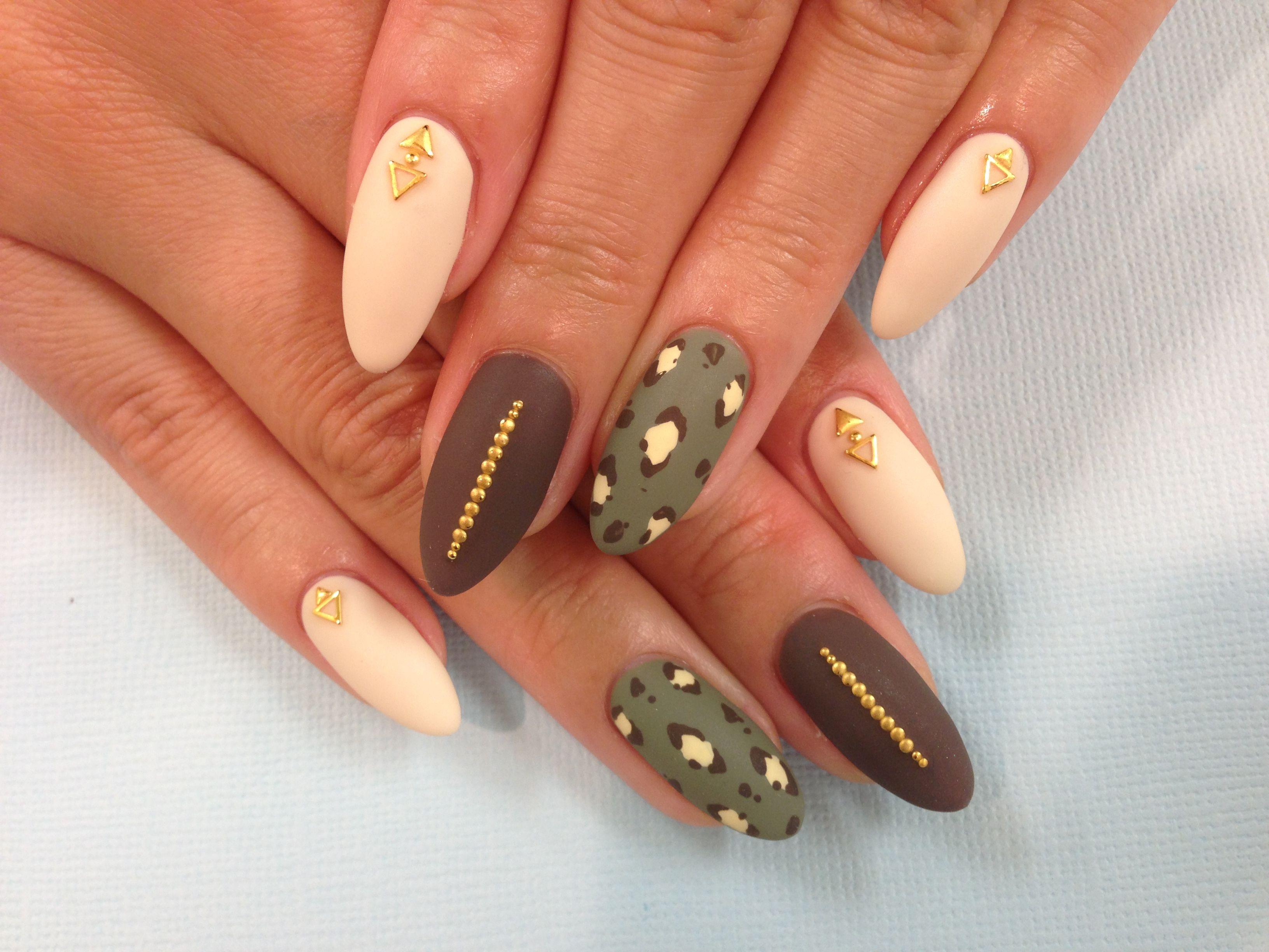 Kawaii Nails in Tustin CA, Matte, leopard, stilettonails | uñas ...
