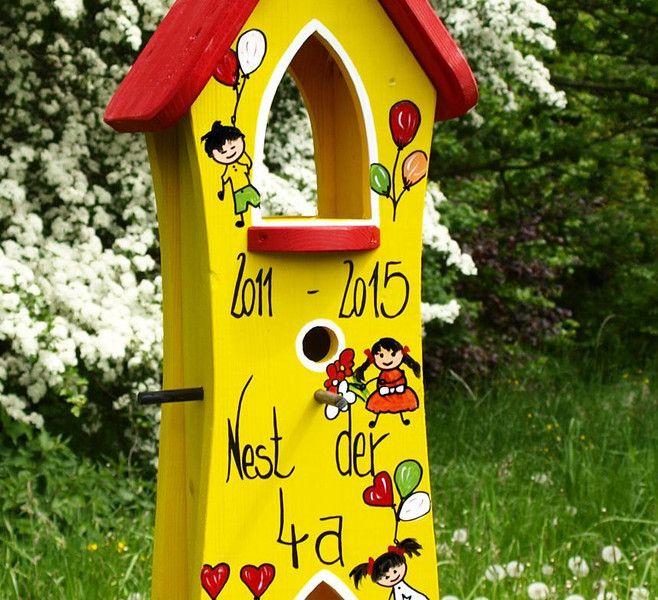 vogelhaus abschied abschiedsgeschenk kindergarten von vogelliebe shop auf. Black Bedroom Furniture Sets. Home Design Ideas
