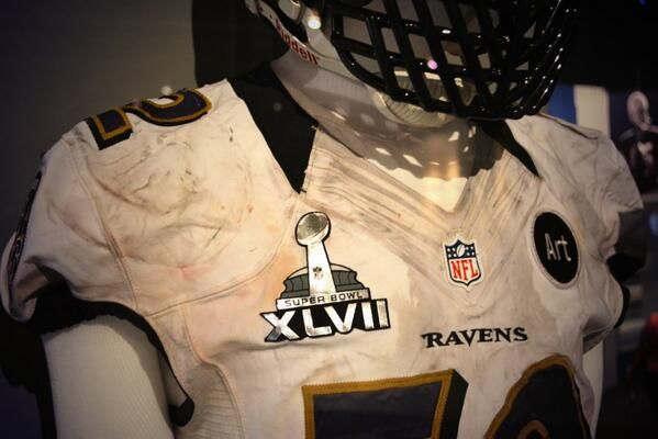 buy popular dbacb 66a6c A look at Ray Lewis' game worn jersey from Super Bowl XLVII ...