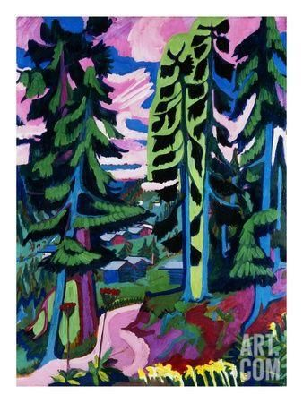 Wildboden Giclee Print by Ernst Ludwig Kirchner at Art.com