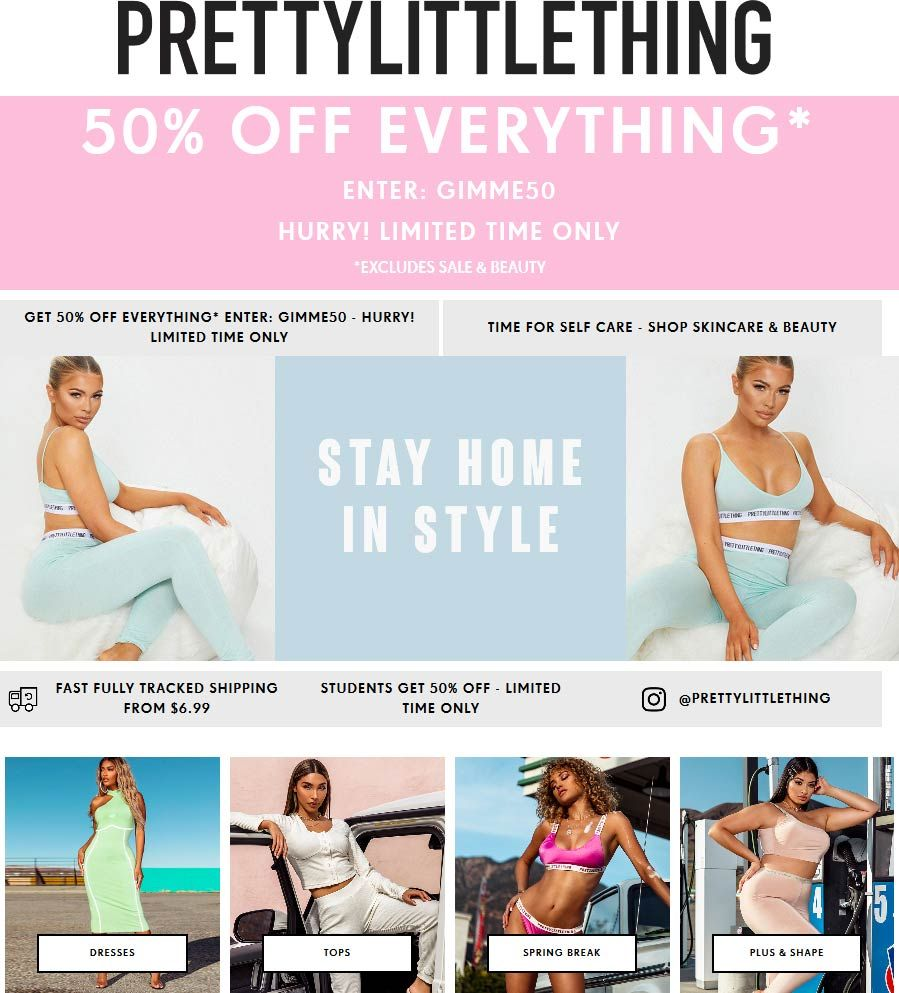 Pinned March 23rd 50 Off Everything At Pretty Littlething Via Promo Code Gimme50 Thecouponsapp Shopping Coupons Cosmetic Treatments Beauty Skin Care