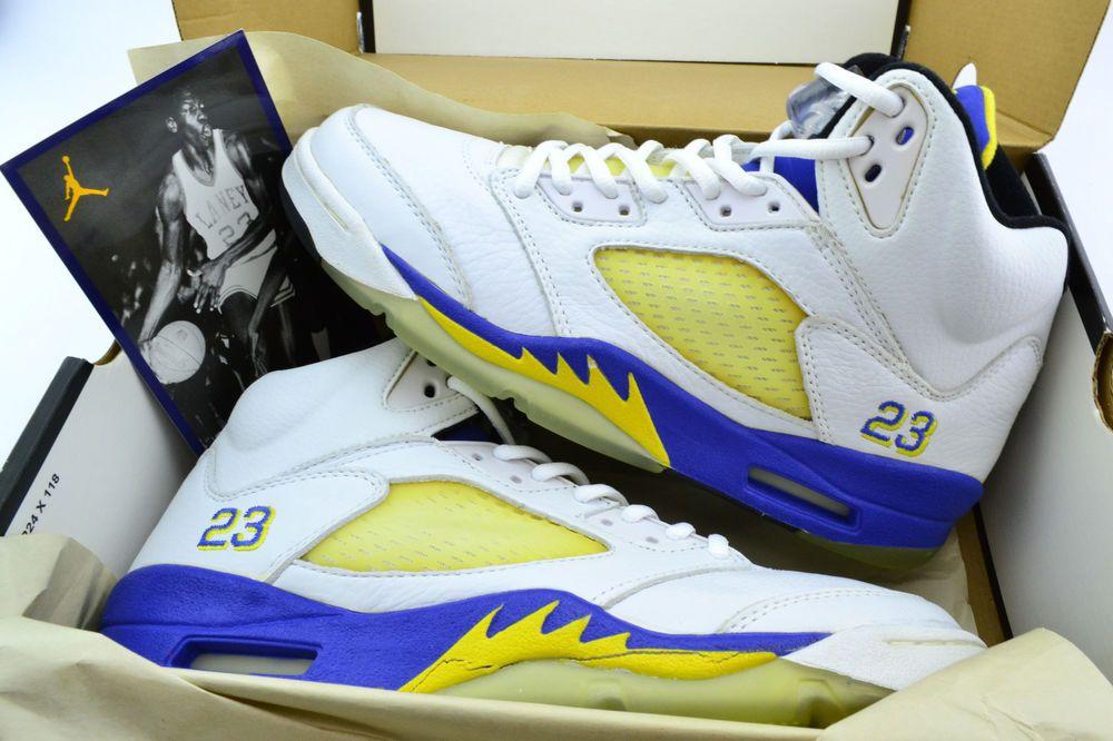 newest 6f85f 08071 Nike Air Jordan 5 Retro 3 4 HI Laney Royal Varsity Maize V s Size 9.5 2000   (eBay Link)