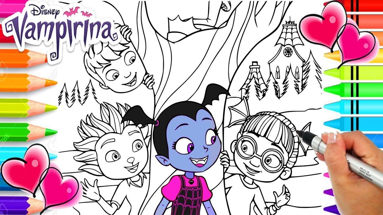 Vampirina Coloring Pages Together With Drawing With Her Parents
