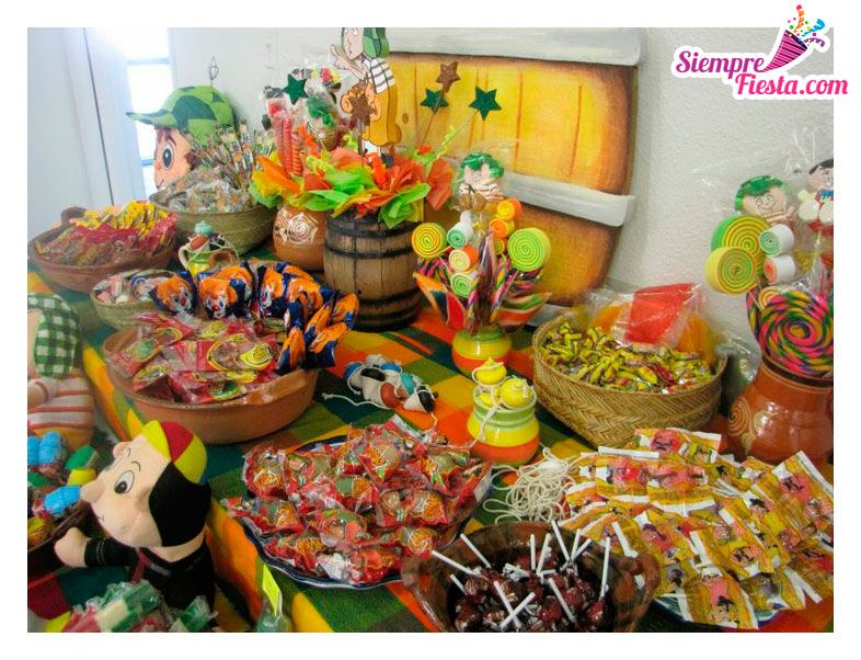Ideas para fiesta de cumplea os con los personajes de el chavo del 8 encuentra todos los - Cumpleanos infantiles comida ...