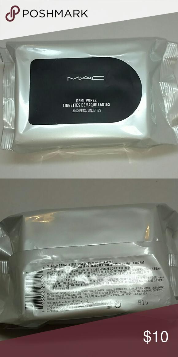 MAC demi wipe New MAC Demi wipes 30 sheets, never used MAC Makeup Brushes & Tools