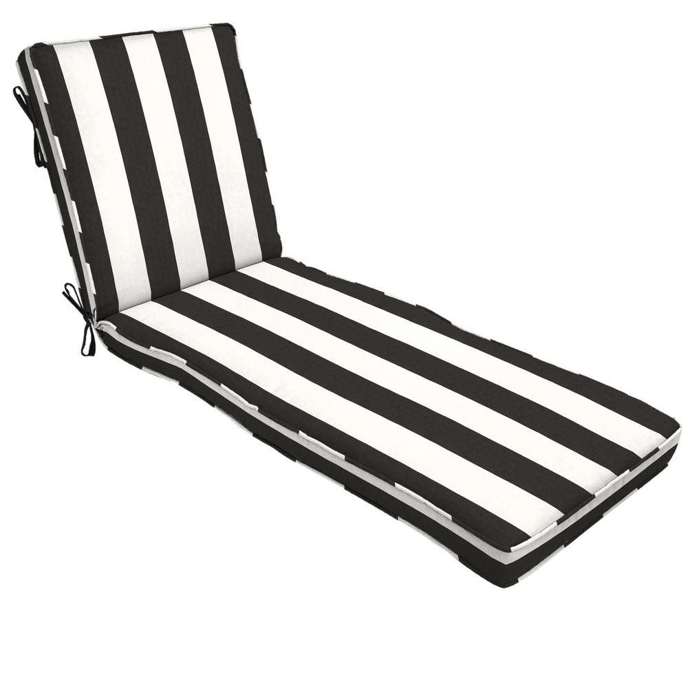 Home Decorators Collection 22 X 49 Outdoor Chaise Lounge Cushion In Sunbrella Cabana Clas Outdoor Chaise Lounge Cushions Chaise Lounge Cushions Lounge Cushions