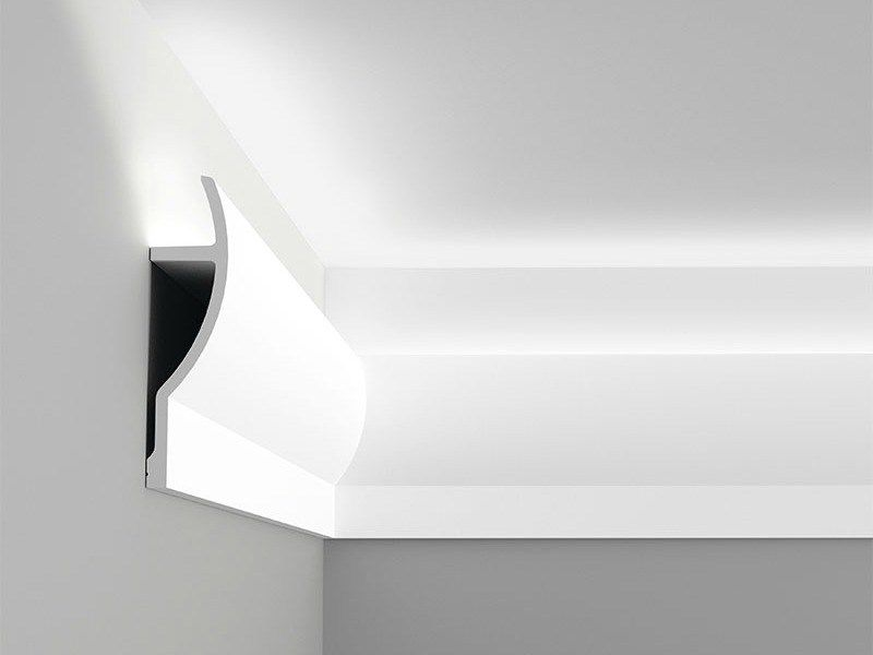 Install Your Very Own Cool Atmospheric Indirect Lighting In Any Room Using Easy To Install Diy Crown Molding Diy Crown Molding Crown Molding Lights Diy Molding