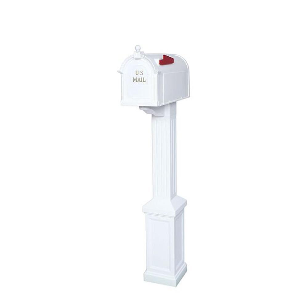 Postal Pro Craftsman Mailbox And Post Kit White Pp3400whm Craftsman Mailboxes Mounted Mailbox Mailbox Post