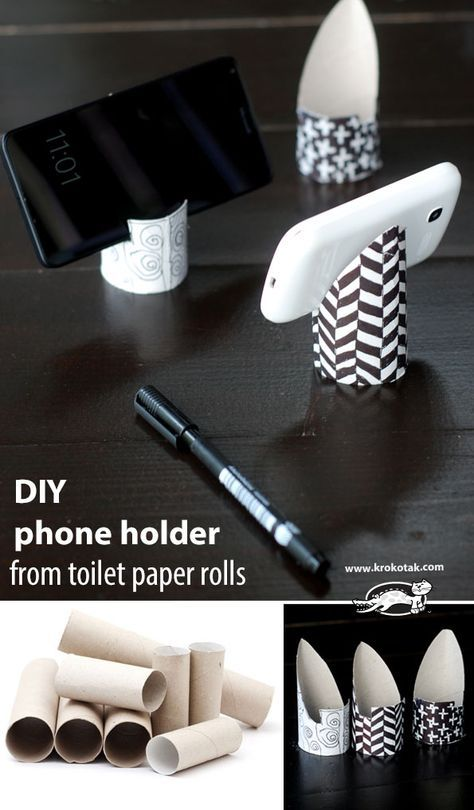 How To Make Phone Holder From Toilet Paper Rolls Diy Phone Holder Diy Paper Diy Phone