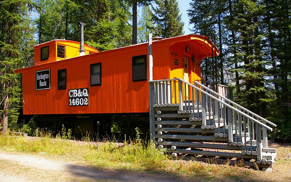 Glacier National Park Lodging   Cabins And Caboose Units   Izaak Walton Inn