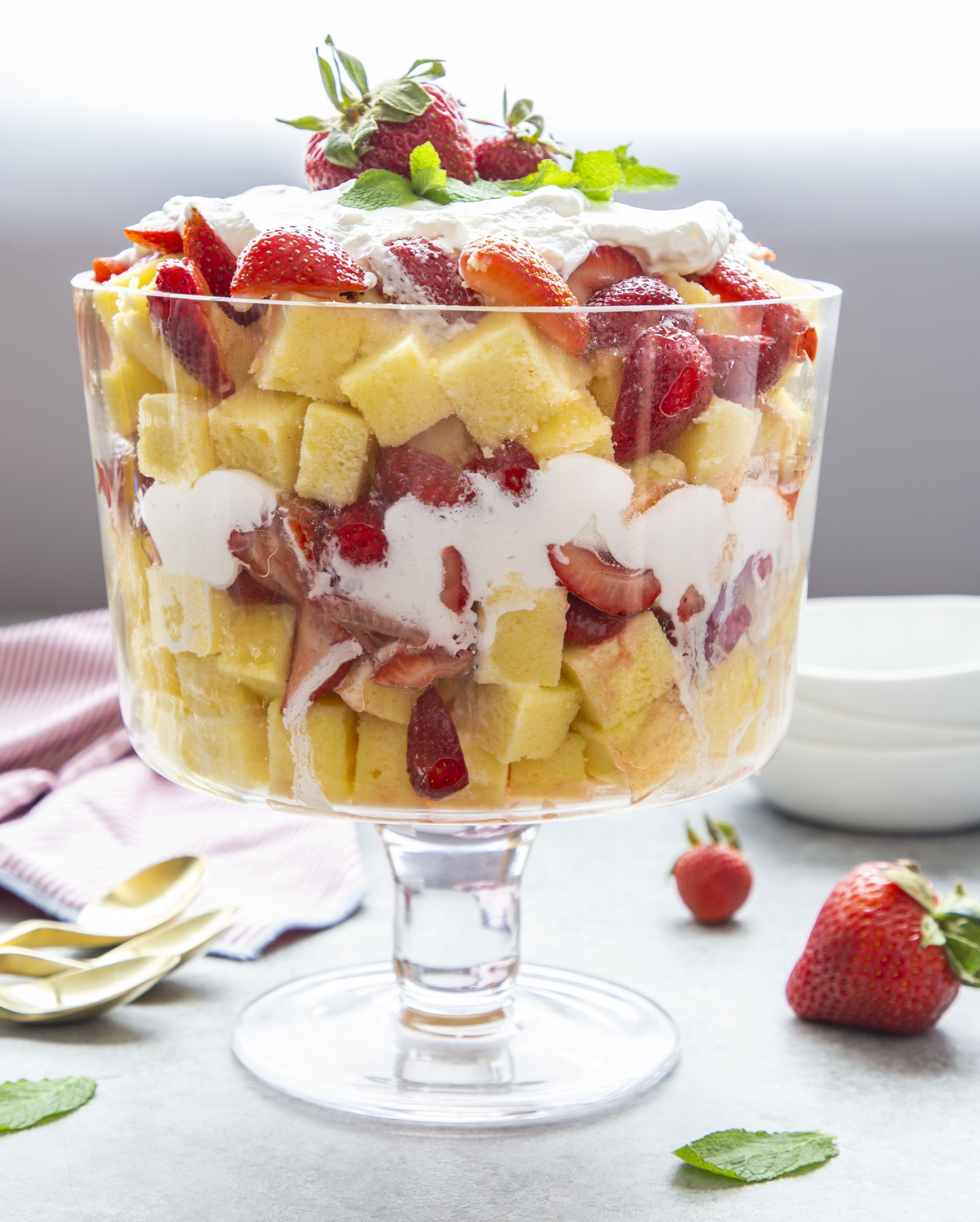 Strawberry Mango Trifle: This Strawberry Trifle With Strawberry Top-Infused Whipped