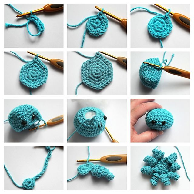 Mini Amigurumi Octopus pattern by Sarah Hearn #crochetoctopus