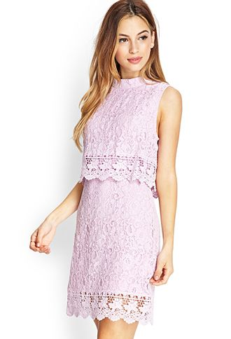Crochet Lace Flounce Dress | FOREVER21