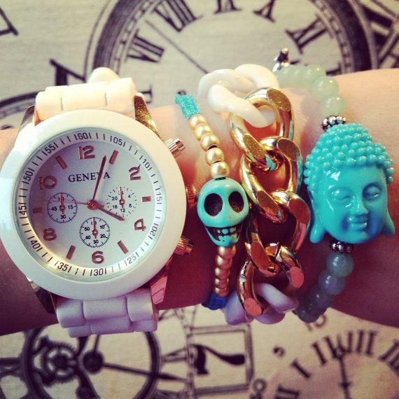 Bracelet set plus watch by DesignedbyAleks on Etsy, $30.00