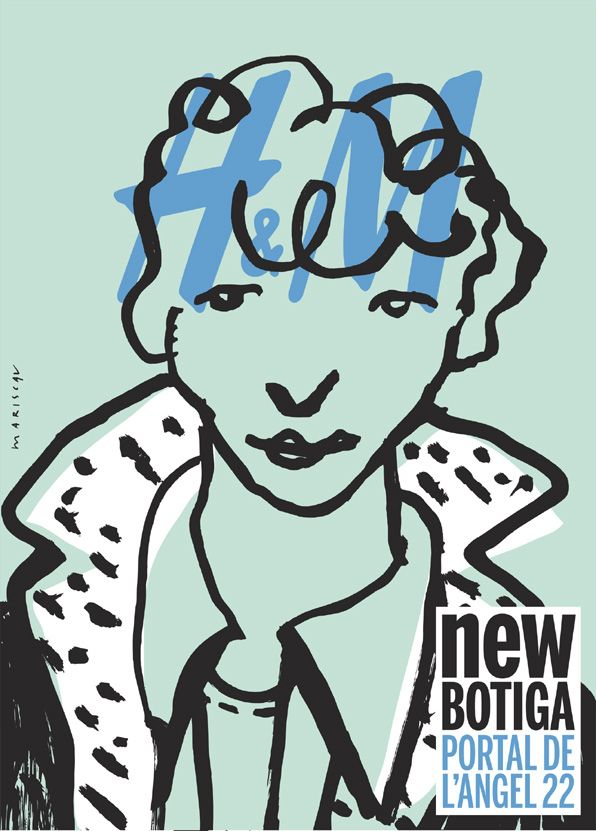 Poster for the H Flagship store in Barcelona by Javier Mariscal 1