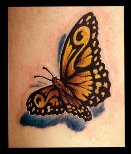 Photo of halb schmetterling halb schädel tattoo –  Bilder für die Suchanfrage butterfly…