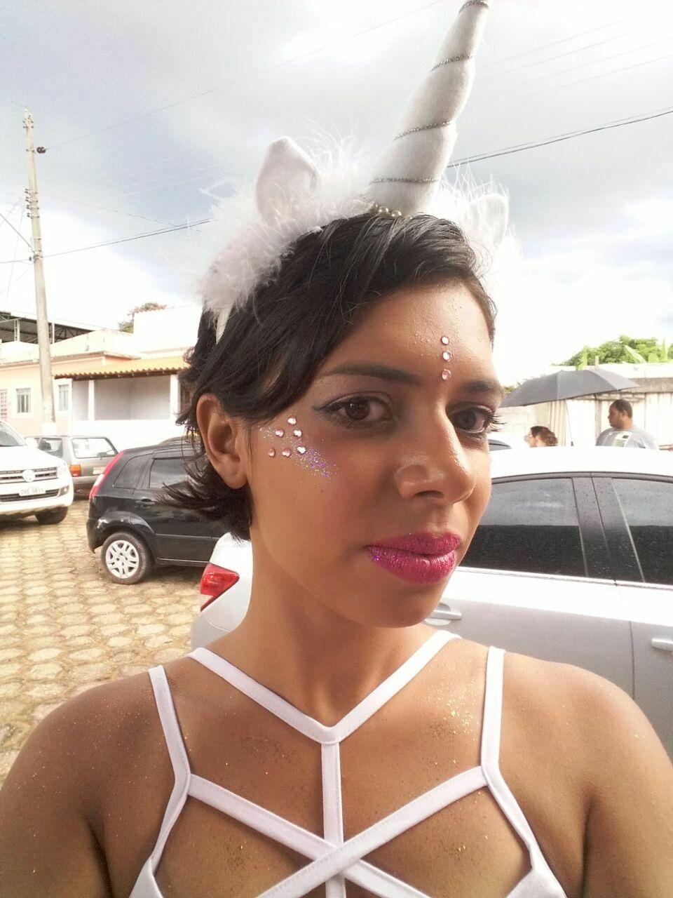 Maquiagem de unicórnio! Carnaval 2017