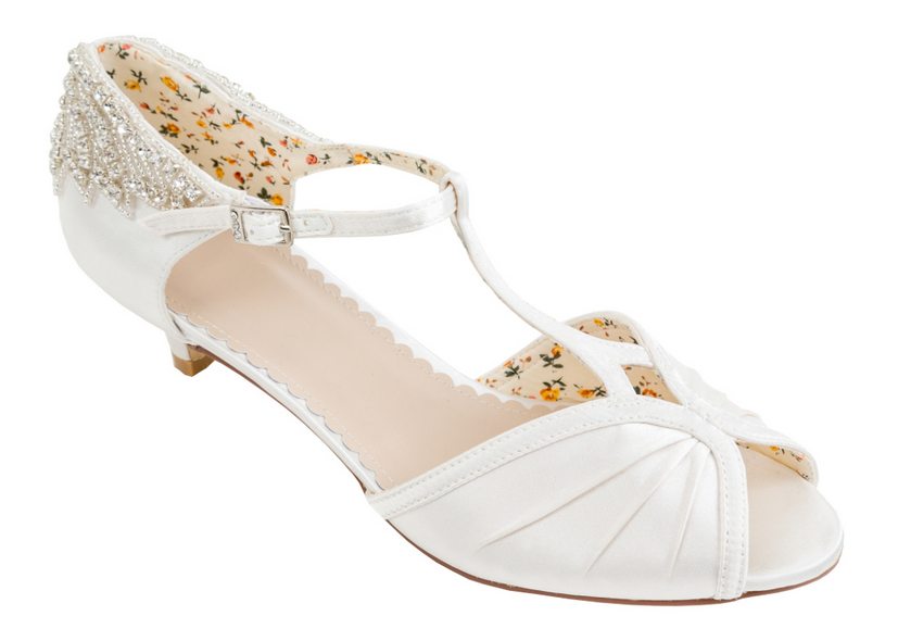 January 2017 Delivery - Most Sizes Rosetta by The Perfect Bridal Shoe Company. The Rosetta wedding heels are the ultimate in vintage styled eleg