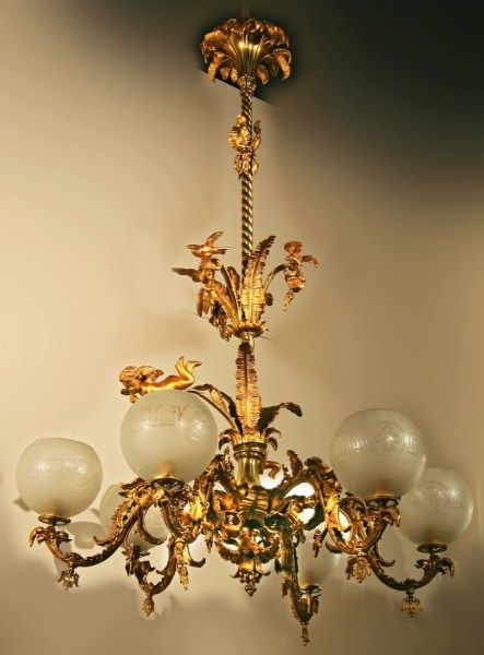 Antique Victorian Chandelier for First Impression Room to play up history  of the house. - Antique Victorian Chandelier For First Impression Room To Play Up