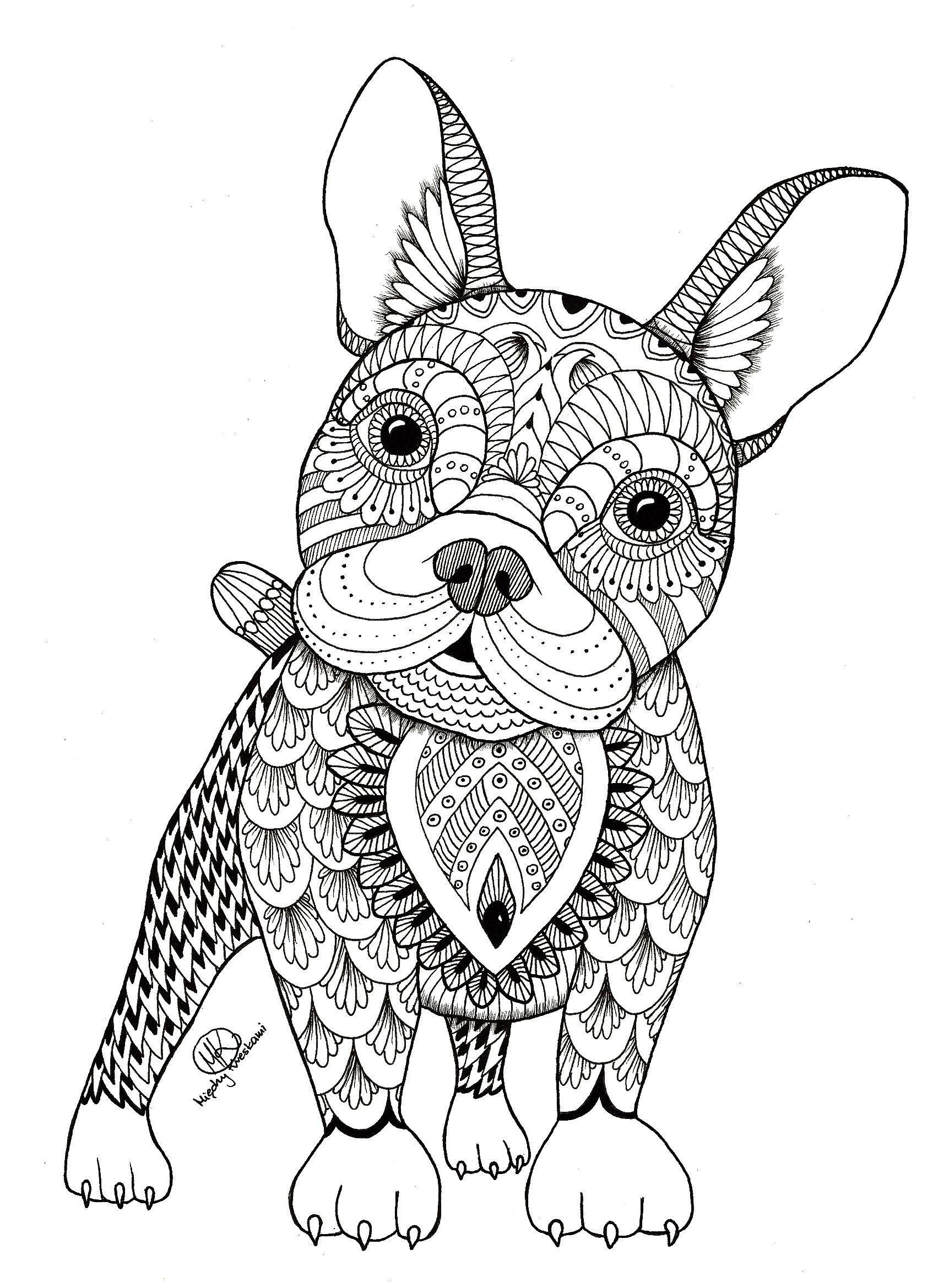 mandala animaux - Recherche Google | Chien coloriage ...