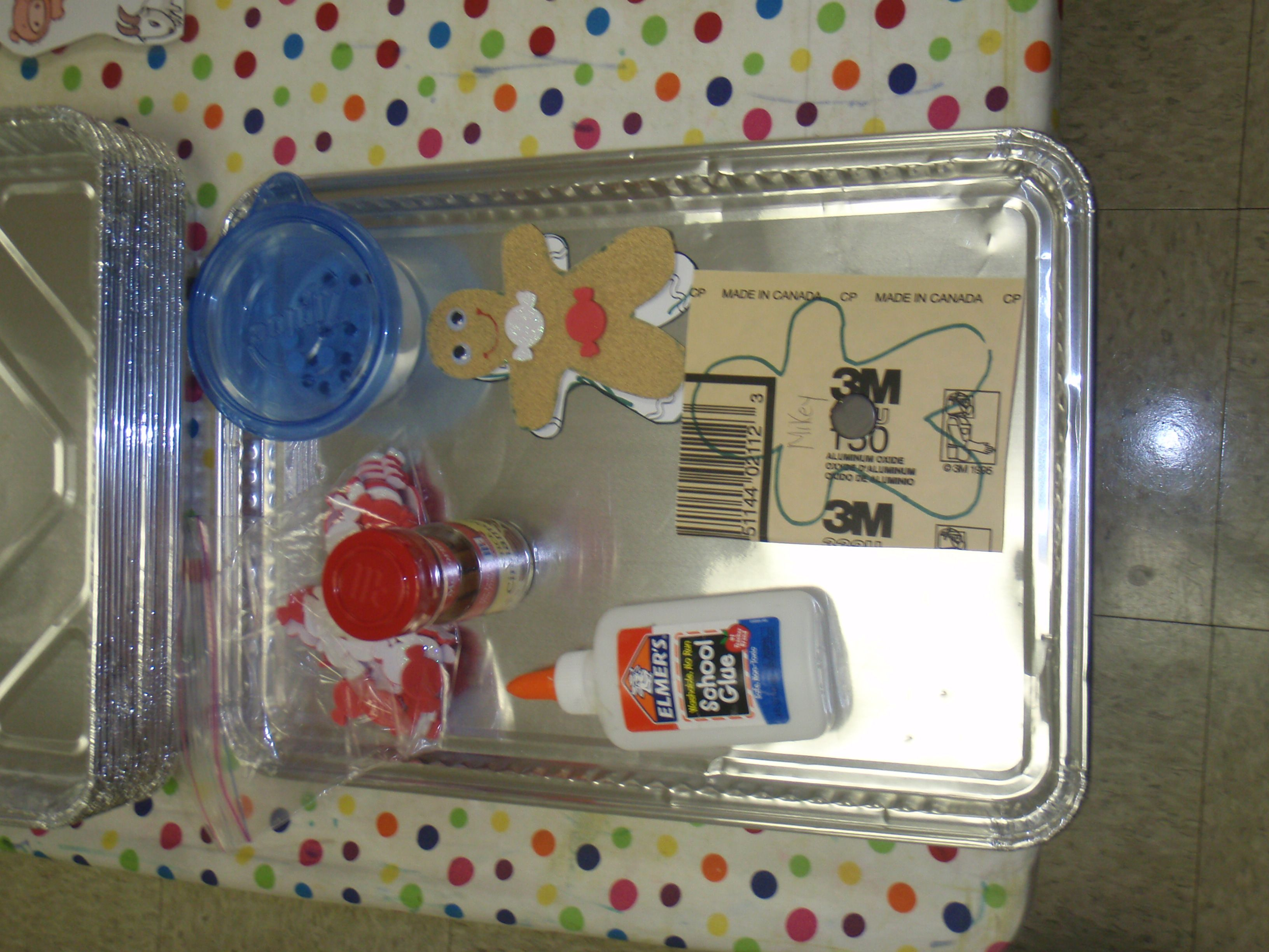 Scratchy Sensory Gingerbread Baby
