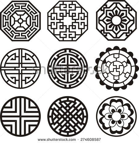 korean traditional symbol vector image tattoo idea pinterest symbols pattern and korean. Black Bedroom Furniture Sets. Home Design Ideas
