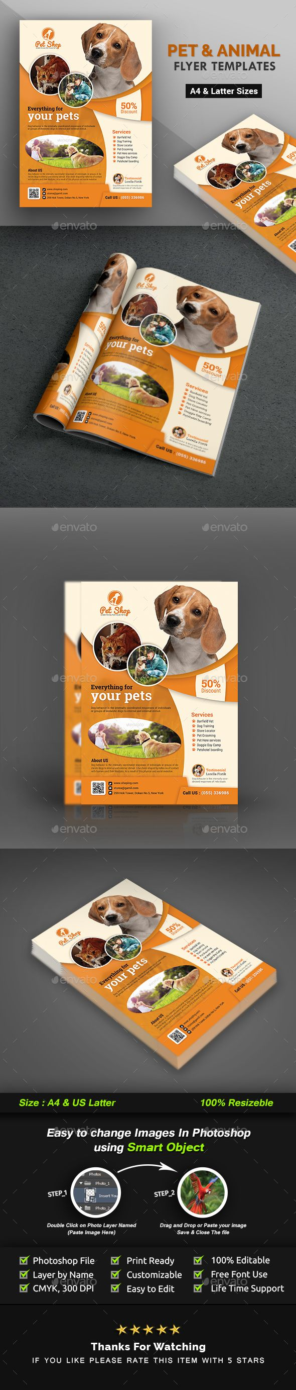 Pet Flyer | Animal Flyer Templates | Flyer template, Template and ...