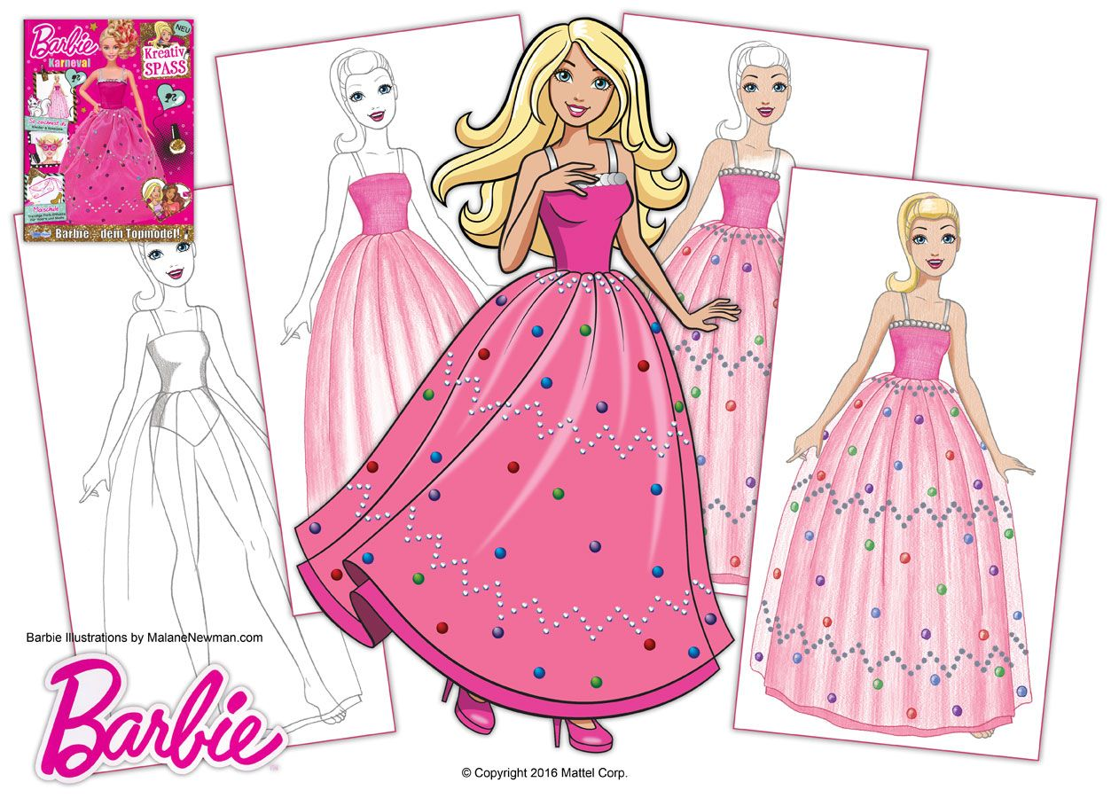 Some Drawing Lesson Illustrations I Did For Barbie Magazine Issue