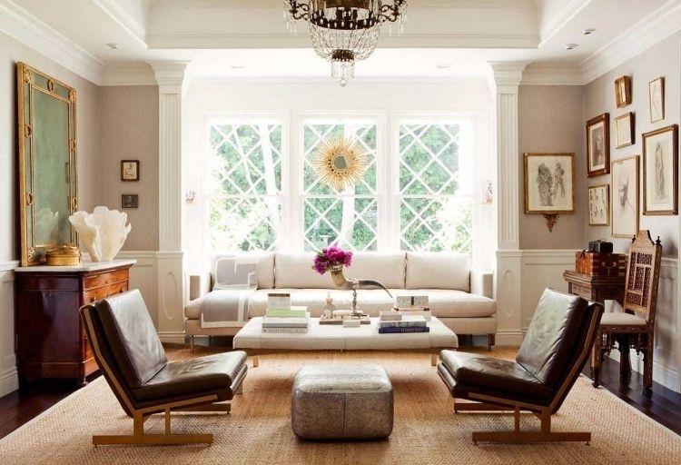 Nach Feng Shui Wohnzimmer Einrichten  Antik Moebel Couch Sessel  Leder Fenster Kronleuchter Kristall