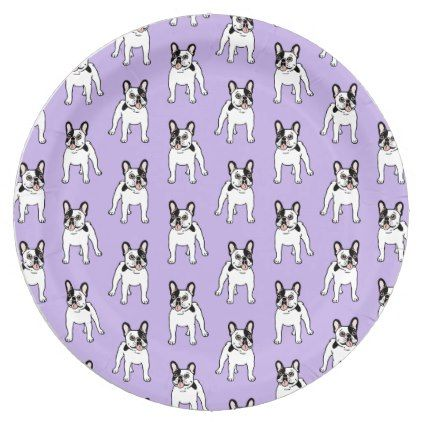 #Happy and Fun Single Hooded Pied Frenchie Paper Plate - #bulldog #puppy #  sc 1 st  Pinterest & Happy and Fun Single Hooded Pied Frenchie Paper Plate - #bulldog ...
