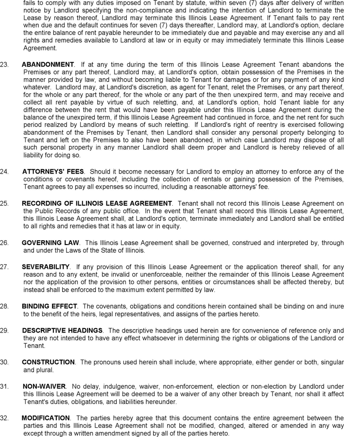Illinois Residential Lease Agreement Download Free Printable Legal Rent And Lease Template Form In Differe Lease Agreement Free Printable Lease Agreement Lease