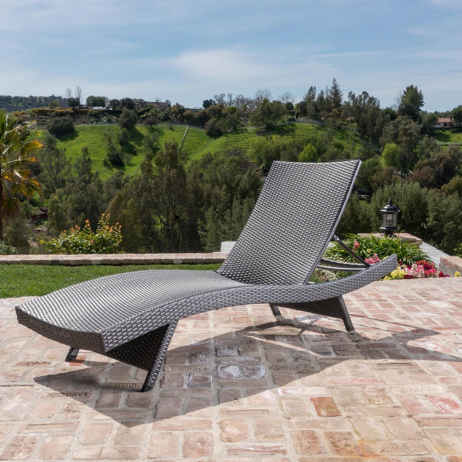 Outdoor Salem Wicker Lounge Chair With Cover In 2019 Products