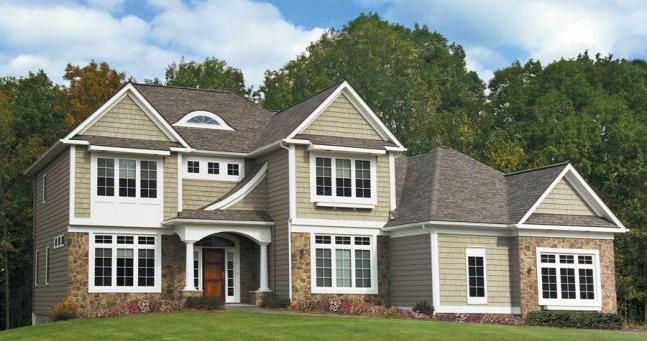 vinyl siding and stone - Home Exterior Siding