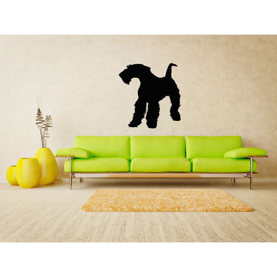 Airedale Terrier Dog Wall Art Sticker Decal | Dog Haircuts ...