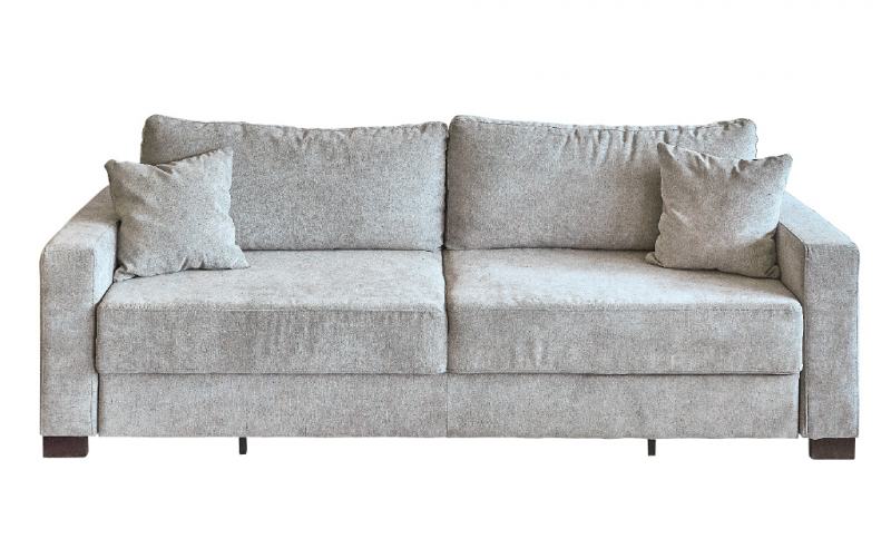 Anabel Sofa Bed In Holly Fabric Grey 7 With 2 Back Cushions And Arm Pillows From Inspiration Interiors Hawaii Home Remodeling