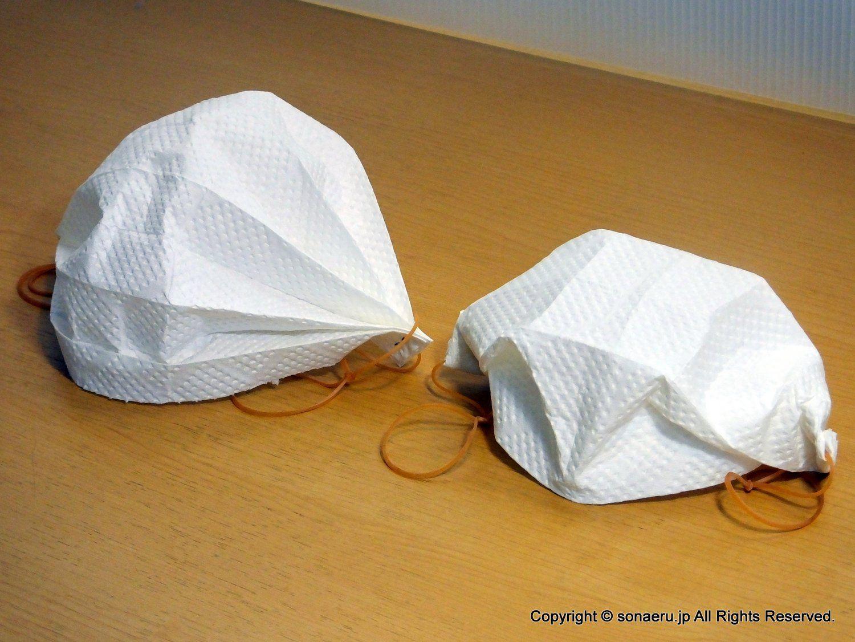 作る ペーパータオル マスク で
