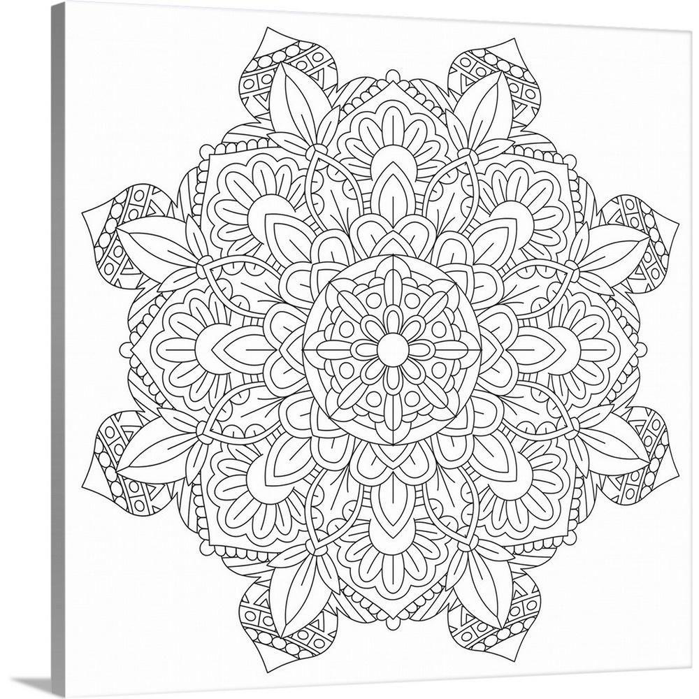 Greatbigcanvas Coloring Mandala Pretty 17 By Cynthia Thomas Canvas Wall Art Multi Color In 2020 Abstract Canvas Painting Coloring Canvas Abstract Canvas